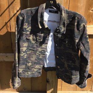 Cello Camouflage Jean jacket
